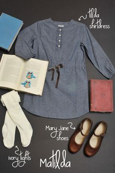 Create a costume that looks like the colors of a Matilda costume using Olive Jui… Create a costume that looks like the colors of a Matilda costume using Olive Juice clothing - Preteen Clothing Preteen Fashion, Kids Fashion, Teenage Girl Outfits, Kids Outfits, Character Day Ideas, Baby Costumes, Halloween Costumes, Classy Outfits, Cool Outfits