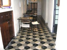 hexagonal Tiling, Awesome Stuff, Floors, Tile Floor, Home Decor, Products, Flooring, Tiles, Contemporary