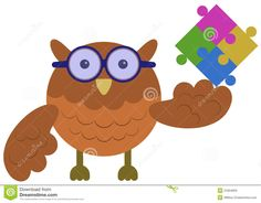 logo owl puzzle clipart - Google Search