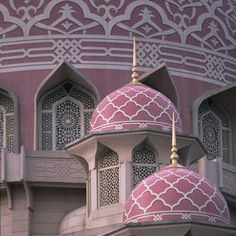 The dusty pinks of the Putra Jaye mosque, Selangor.