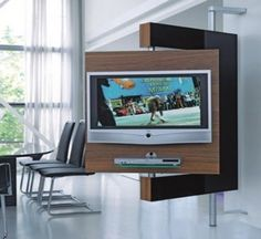 A Little Clunky, But Interesting Idea. Swivel Media Stand   Swivel TV Mount  And Storage By Die Collection