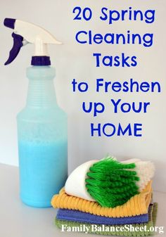 Why is everyone so gung-ho about cleaning in the spring time? Maybe the open windows awaken that spirit in us. Here's 20 Spring Cleaning Tasks to Freshen Up Your Home. Includes a free printable check list.