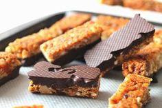 Barre de céréales au chocolat... Des petites barres énergisantes et parfaites pour le goûter ♥