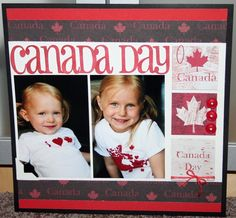 Ok I realize that it is not anywhere near Canada Day but this is one of those layouts that I started and never got aroun. Scrapbook Designs, Scrapbooking Layouts, Scrapbook Pages, Canada 150, Page Layout, Treat Bags, Seasons, Grandchildren, Day
