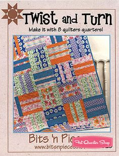 Twist and Turn Quilt Pattern Bits 'n Pieces #BNP-1320