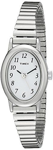 Timex Women's T21902 Cavatina Silver-Tone Stainless Steel Expansion Band Watch * Click image for more details.