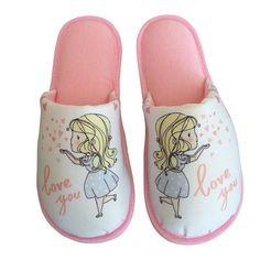 Pantufa Infantil I Love You Rosa > Conforto Store