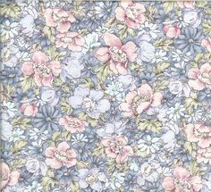 Pretty blue and pink floral.