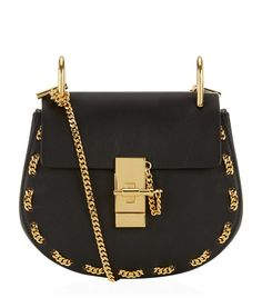 Chloé Mini Drew Chain Trim Shoulder Bag | Harrods