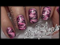 Easy Dry Brush Nails / Quick Messy Nail Art Design (tutorial for beginners with nail polish) - YouTube