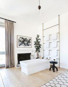 Inside an Interior Designer's Stylish Malibu Home with Rustic Charm - House… Bad Inspiration, Bathroom Inspiration, Bathroom Inspo, Design Bathroom, Bathroom Ideas, Bathtub Ideas, Bathroom Hacks, Remodel Bathroom, Interior Inspiration