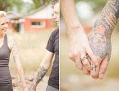 """Tattoo engagement session."" #Tattoos #love"
