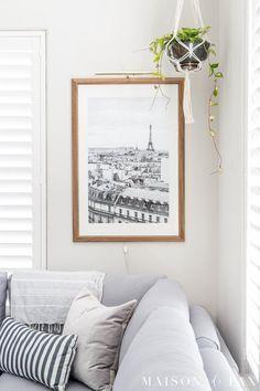 Rooftops of Paris - Printable Instant Digital Download - Wall Art