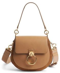 Chloé Medium Tess Calfskin Leather Shoulder Bag. Saddle Bags ... 2c395ecd66ee9