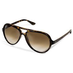 54f882bc53de RAY-BAN Shiny Avana Mock Tortoise Cats 5000 Gradient Sunglasses found on  Polyvore