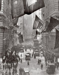 1918 Wall Street WWI is Over