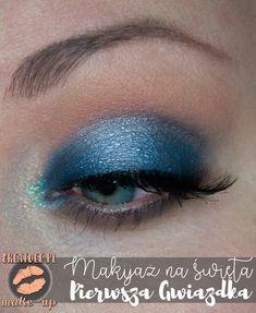 niebieski makijaż na święta Eyeliner, Make Up, Beautiful, Eye Liner, Makeup, Beauty Makeup, Eyeliner Pencil, Bronzer Makeup