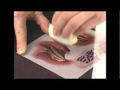 ▶ Jacquard Products Presents: Stenciling Techniques On Fabric with Diane Ericson, Part 2 - YouTube