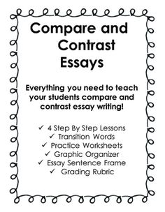 cause effect essay writing writing graphic organizers graphic  compare contrast essay writing
