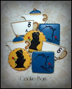 Beauty And The Beast Decorated Cookies - Cookie Barn