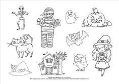 Dibujos de #Halloween   #Printable #Imprimible
