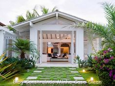 Casas de Praia Lindas!!! E Super Dicas contra Maresia! Fachada de madeira branca