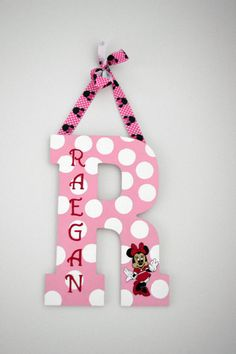 Custom Hand Painted Minnie Mouse by SpartyGirlCrafting on Etsy