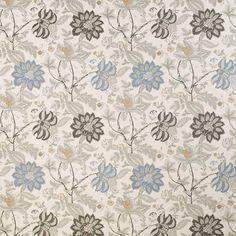 Warwick Fabrics : BLOOMSBURY, Colour DENIM