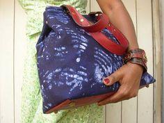Indigo Dyed African Print Bag