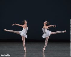 Katia Carranza and Sara Esty in George Balanchine's 'Concerto Barocco.' ONSTAGE Program II: #SeetheMusic