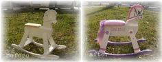 Before and After: Creative Flea Market Makeovers Before and After Vintage Rocking Horse Makeover