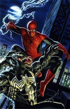 Spidey vs Venom by ~felipemassafera