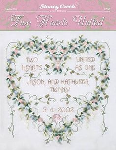 Two Hearts United - Cross Stitch Pattern. 123stitch.com