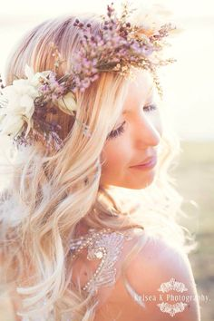 Rock the Frock Session by Kelsea K Photography. Anna Campbell Eden Handmade Flower Crown Mountain Lake Brisbane Sunlit Backlit Vintage Glamour