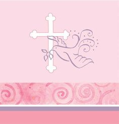 Wow, I want this -  Creative Converting Pink Faithful Dove Plastic Tablecover, 54 X 108 Inch