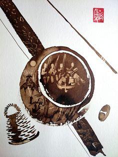 Illustration : Capoeira – 721 [ #capoeira #watercolor #illustration]