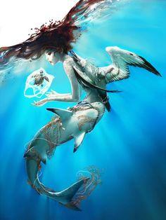 Art by Wenqing Yan Yuumei Mermaid