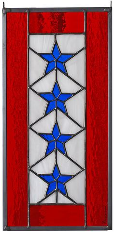 Stained Glass FOUR Star Service Banner.via Etsy.