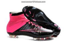 Nike Men's Mercurial Superfly FG Hi Top Football Boot Soccer Cleats Black Hyper-Pink $ 77.00