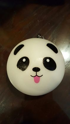 Super cute slow rising panda bun squishy
