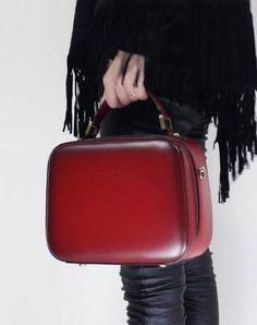 Genuine Leather cube handbag shoulder bag for women leather crossbody bag