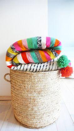 Bright, Moroccan blanket