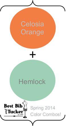 Pantone Spring 2014 Hemlock +Celosia Orange