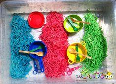 La cuca: Espaguetis de colors