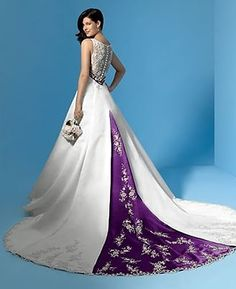 http://dyal.net/white-wedding-dresses White and Purple Wedding Dress