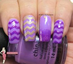 violet-chevron-nail-art