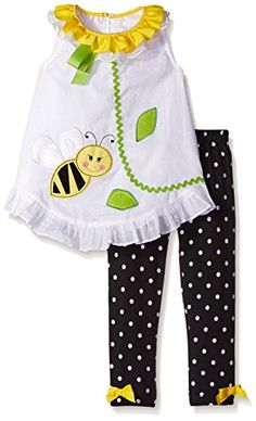 Rare Editions Big Girls' Bumblebee Applique Legging Set, White/Black, 2T/6 Rare Editions http://www.amazon.com/dp/B0175Z0I4A/ref=cm_sw_r_pi_dp_OsgKwb04SQA76