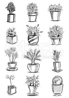 Blumentopf royalty-free stock vector art