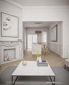 Minosa Design: Classic Modern Kitchen & Bathrooms by Minosa Bathroom Furniture, Kitchen Furniture, Furniture Design, Living Spaces, Living Room, Interior Decorating, Interior Design, Home Kitchens, Decoration