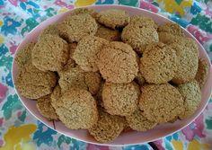 κύρια φωτογραφία συνταγής Μπισκότα με βρώμη και ταχίνι Krispie Treats, Rice Krispies, Healthy Cookies, Sweet Recipes, Cereal, Anna, Breakfast, Desserts, Food